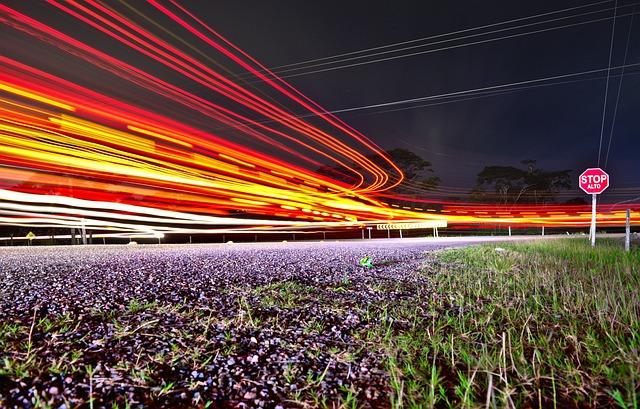 Traffic, Road, Long Exposure, Transportation System