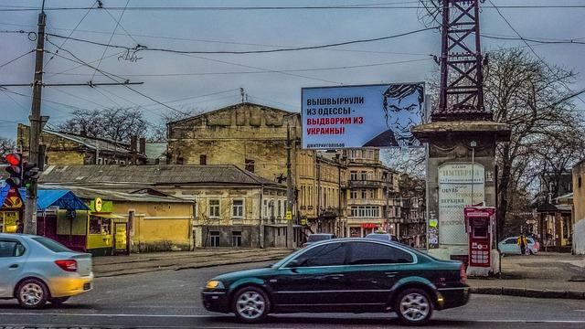 Odessa, Street, Poster, Machinery, Traffic, Road