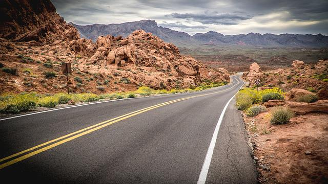 Valley Of Fire State Park, Road, Street, Travel, Nevada