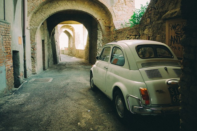 Fiat, Car, Vintage, Italy, Street, Road, Oldschool