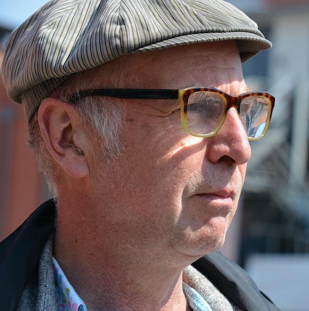 One, Old, Glasses, Face, Portrait, Road, Hamburg, 1