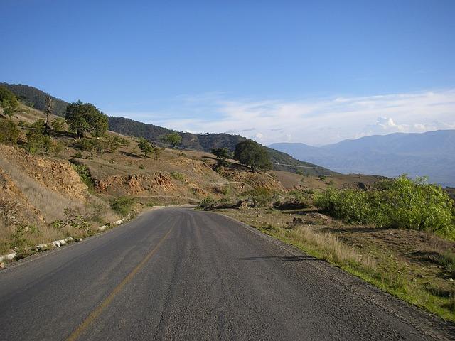 Road, Landscape, Path, Horizon, Mexico, Cobble, Travel
