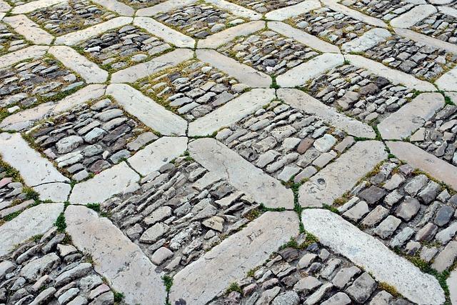 Patch, Cobblestones, Road, Away, Paving Stones, Stones