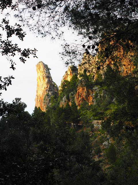 Rock, Cliff, Road, Serpentine Road, Ma-2141, Mallorca