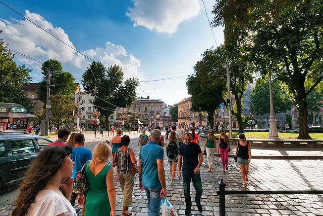 Human, Road, Space, Lviv, Lvov, Ukraine, Historically