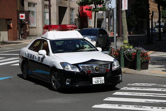Japan, Police, Road, Tea, Patrol, City, Street