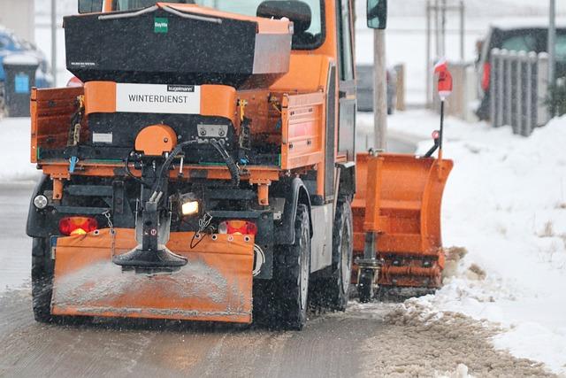 Snow Plough, Snow, Road, Winter, Tractor