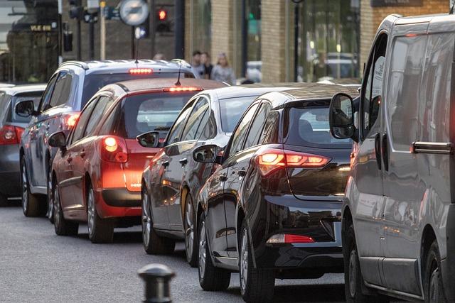 Traffic, Transport, Vehicles, Motion, Tailback, Road