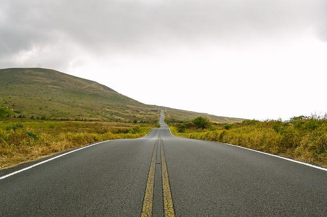 Asphalt, Hill, Road, Sky, Travel