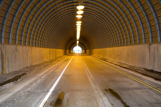 Tunnel, Road, Highway, Drive, Street, Asphalt