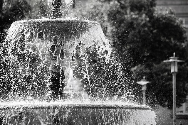 Fountain, Water, Water Fountain, Road, City