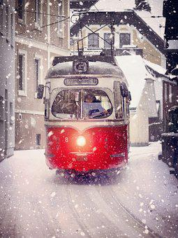 Road, Transport System, City, Winter, Vehicle