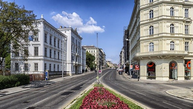 City, Road, Buildings, Roadway, Pavement, Street, Urban