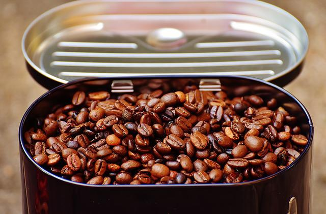 Coffee Tin, Coffee, Coffee Beans, Cafe, Roasted