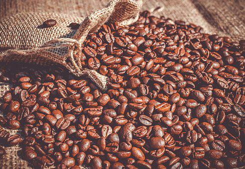 Coffee, Coffee Beans, Beans, Roasted, Caffeine