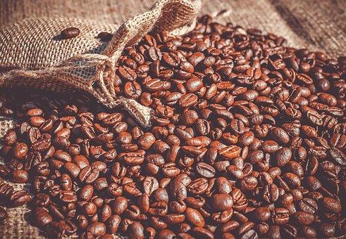Coffee, Coffee Beans, Beans, Roasted, Caffeine