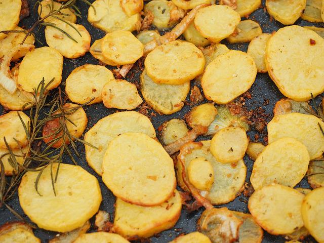 Potatoes, Baked Potatoes, Roasted, Potato Slices