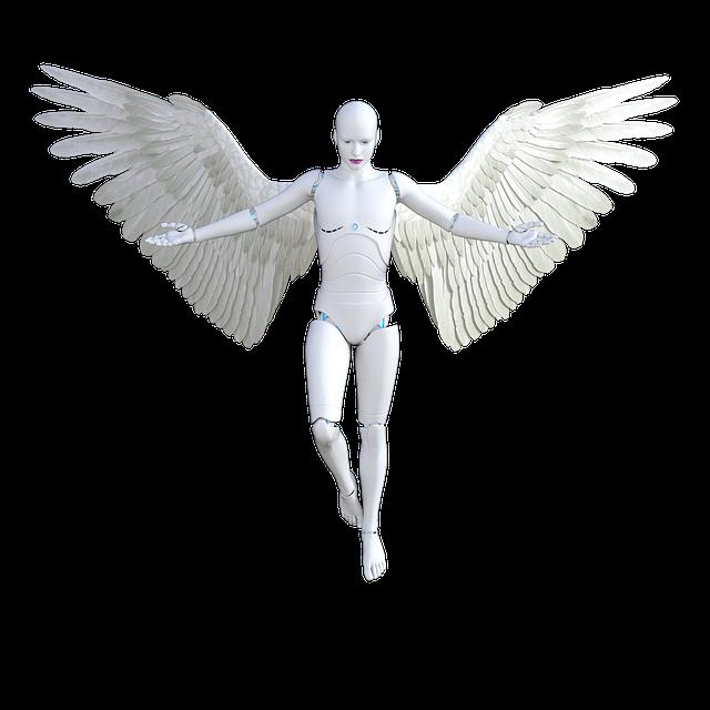 Angel, Robot, Female, Woman, Futuristic, Cyborg