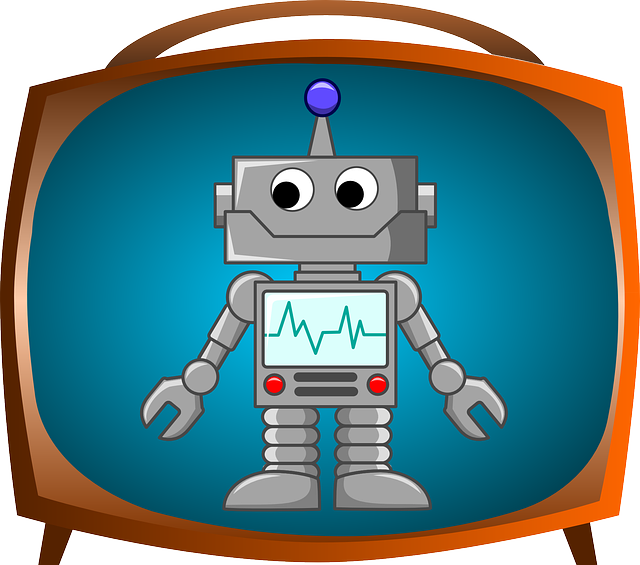 Android, Bot, Robot, Television, Happy, Blue Happy