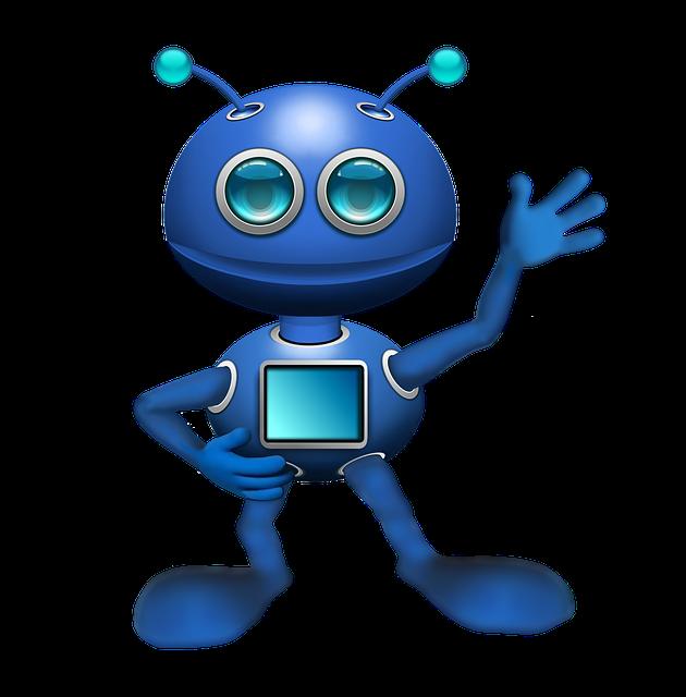 Alien, Robot, Android, Antennae, Blue, New Technologies