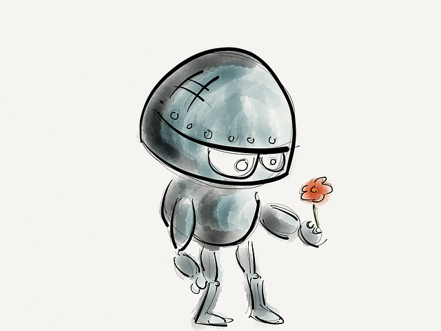 Robot, Flower, Technology, Future, Robotic