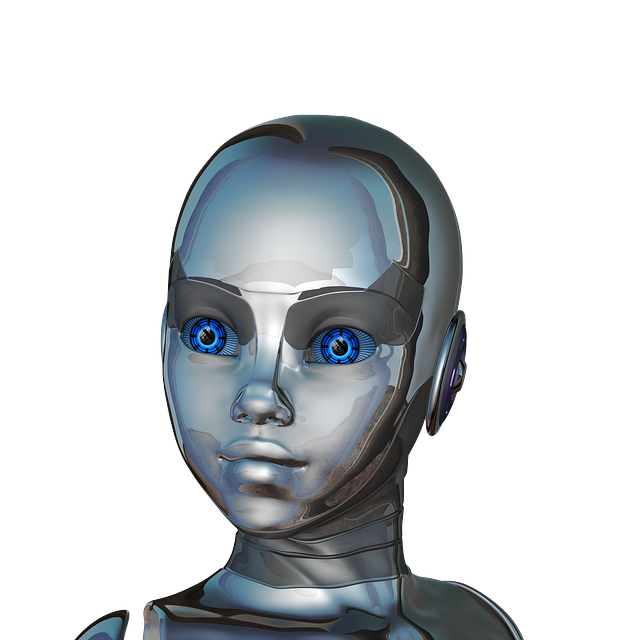 Girl, Woman, Face, Eyes, Close-up, Robot, Cyborg