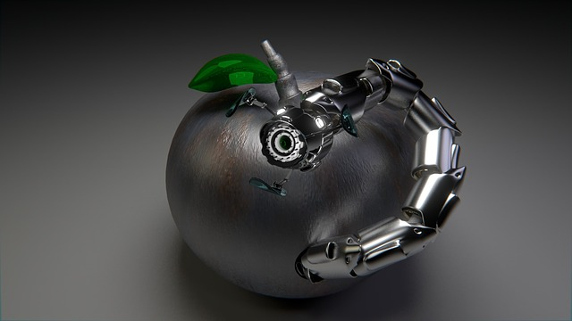 Robot, Worm, Apple, Trojan, Computer Graphics, Graphic