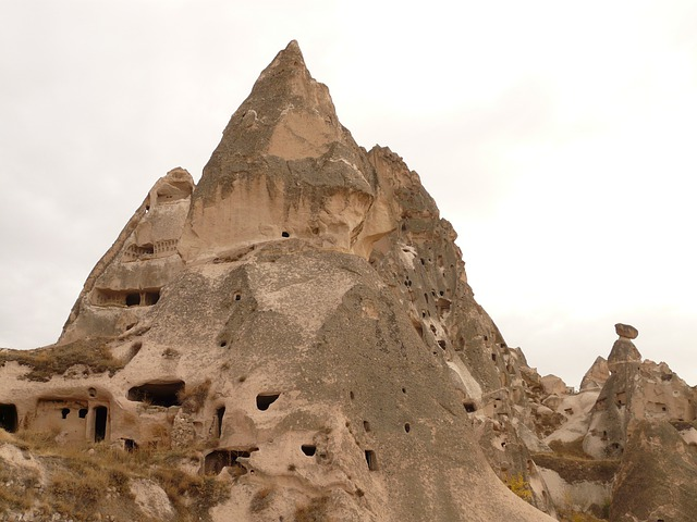Uchisar, Cappadocia, Nevşehir, Turkey, Rock Apartments