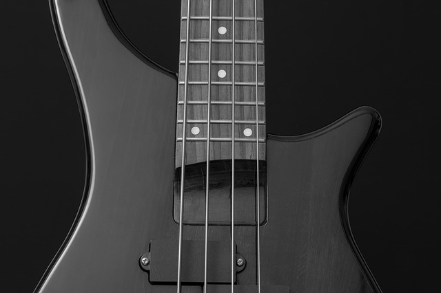 Bass Guitar, Bass, Instrument, E Bass, Black, Rock