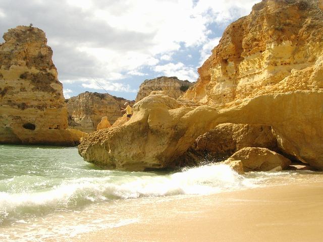 Algarve, Marinha, Coast, Booked, Beach, Sand, Rock