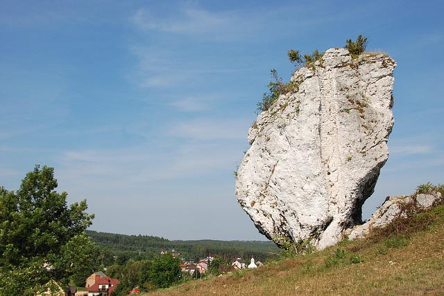 Rock, Boulder, Solitary, Landscape, Nature, Poland