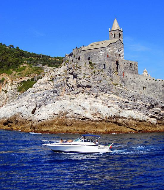 Boat, Castle, Cliff, Sea, Church, Costa, Rock