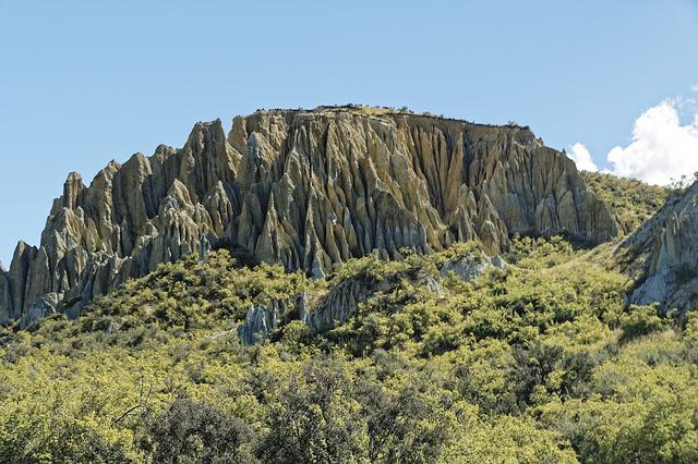 New Zealand, Clay Cliffs, Rock Formations, Rock