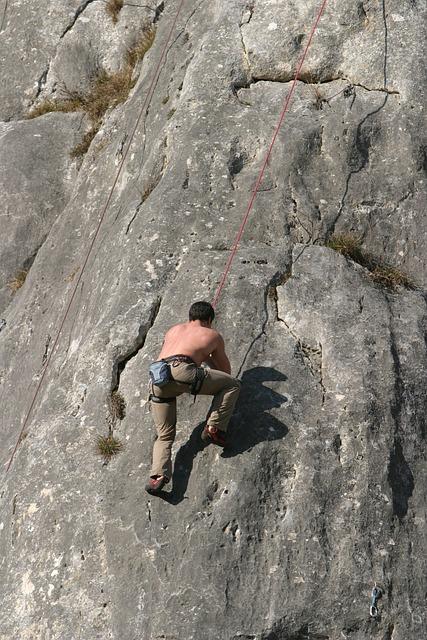 Climb, Rock Climbing, Rope Climb, Steep Wall, Climber