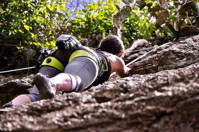 Woman, Climbing, Recreation, Rock Climbing, Girl, Hobby
