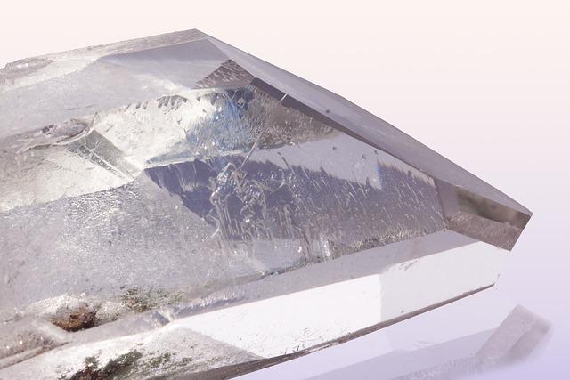 Pure Quartz, Rock Crystal, Mineral, Trigonal