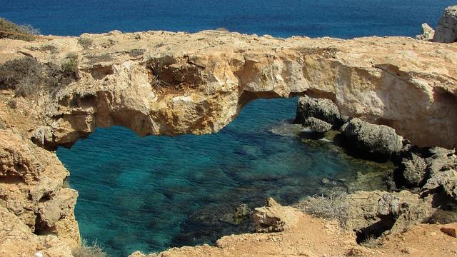Cyprus, Cavo Greko, Korakas Bridge, Landscape, Rock