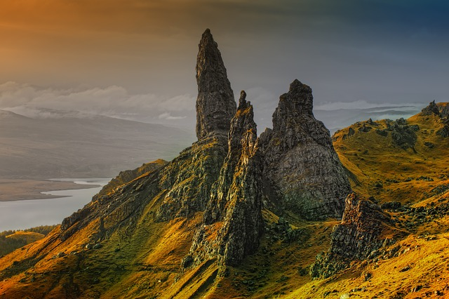 Mountains, Rock Formations, Scotland, Isle Of Skye