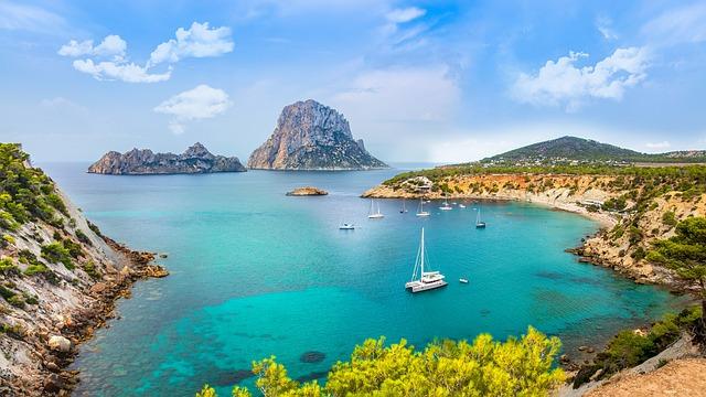 Coast, Rock, Sea, Bay, Ibiza
