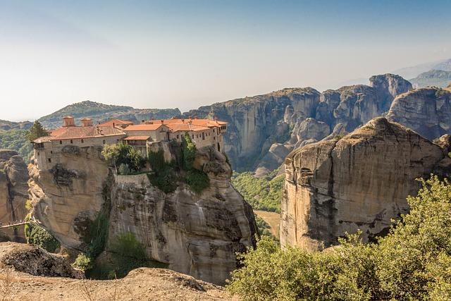 Nature, Travel, Landscape, Rock, Panoramic, Kalampaka