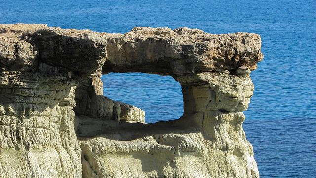 Cyprus, Cavo Greko, National Park, Rock, Window