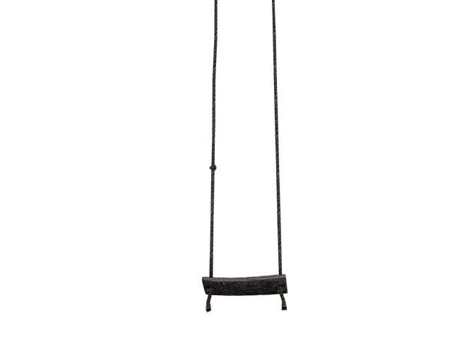 Swing, Wooden Swing, Dew, Rope, Hanging, Rock, Isolated