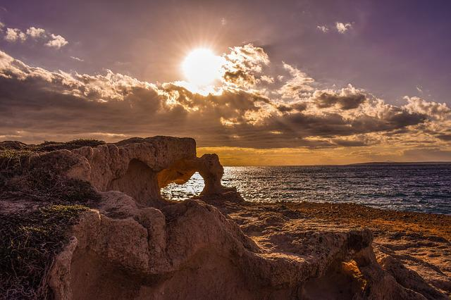 Rock, Formation, Geology, Sea, Sky, Clouds, Afternoon