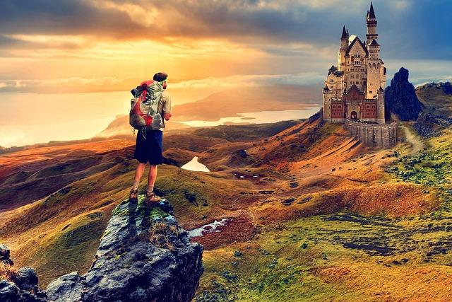 Travel, Landscape, Sunset, Sky, Outdoors, Rock