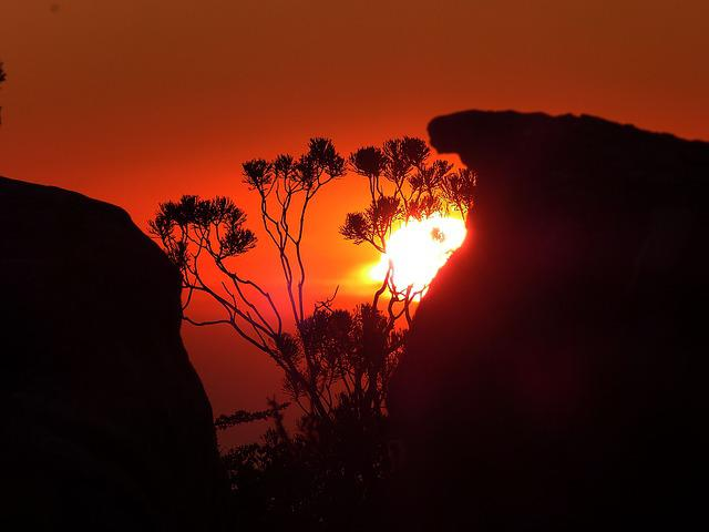 South Africa, Cape Town, Table Mountain, Rock, Sunset