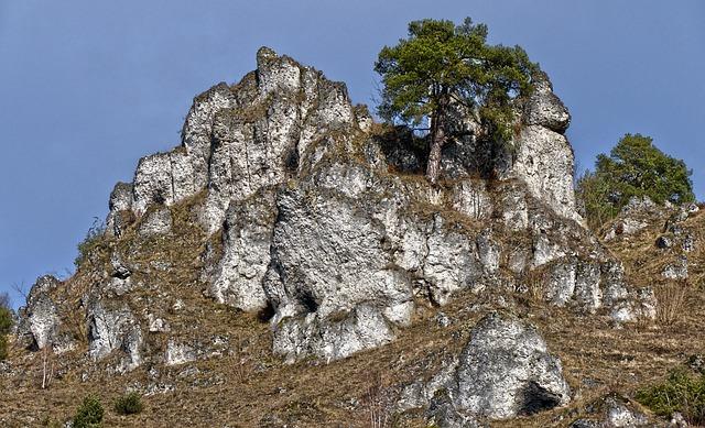 Rock, Rock Wall, Steep, Mountain, Romantic, Blue Sky