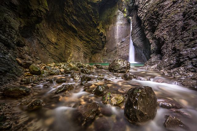 Waterfall, Nature, Outdoor, River, Slovenia, Rock