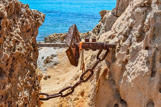 Rock, Wilderness, Rocky Coast, Wild, Anchor, Rusty