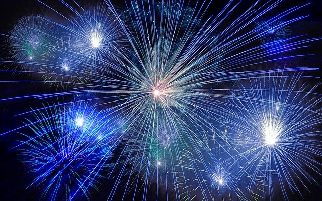Fireworks, Rocket, New Year's Day, New Year's Eve