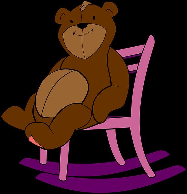 Rocking Chair, Stuffed Animal, Teddy Bear, Toy